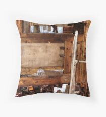 Explorer's Hut Interior #3 Throw Pillow