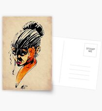 Baader twin water colour Postcards