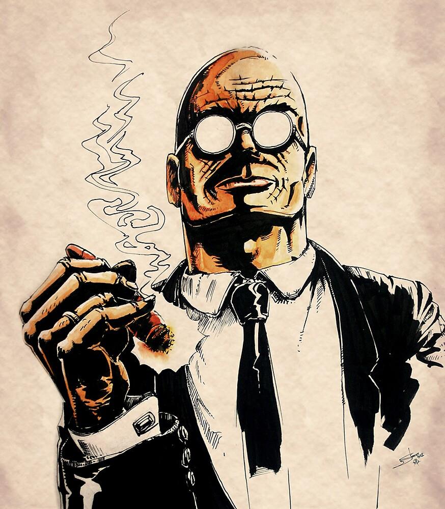 Cigar smoker by Per Ove Sleen
