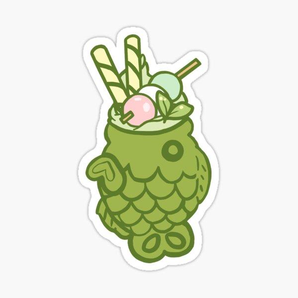 Matcha Taiyaki Ice Cream Sticker