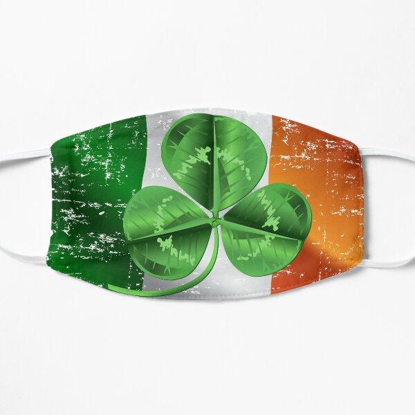Saint Patrick Day Flag with 3d leaf - Ireland Shamrock Flag Flat Mask