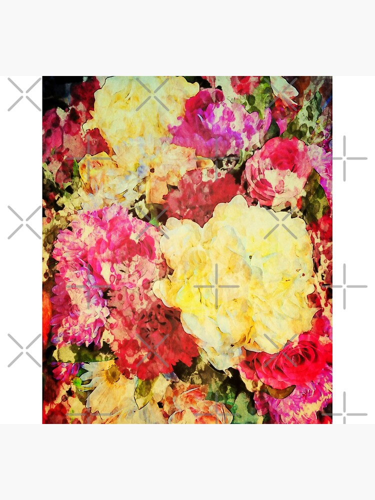 Springtime Bouquet Art - Floral Gift by OneDayArt