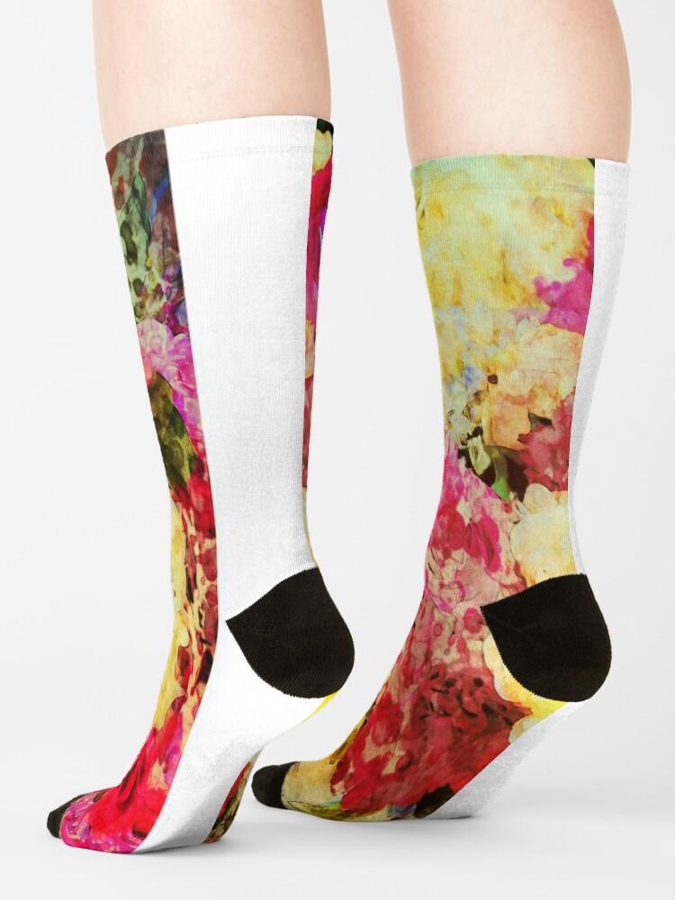 Alternate view of Springtime Bouquet Art - Floral Gift Socks