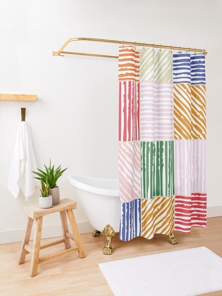 Alternate view of Patchwork Shower Curtain