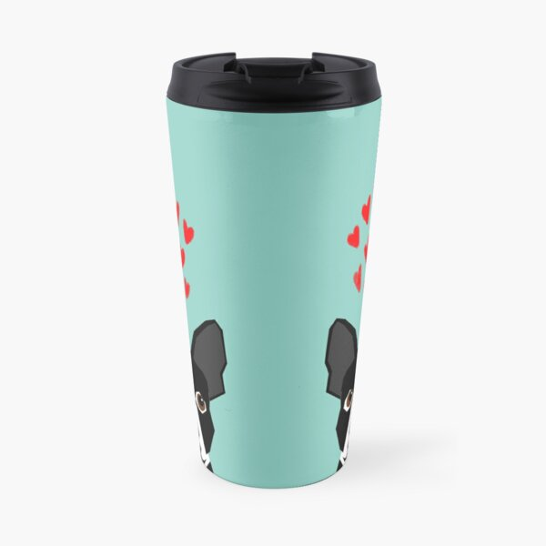 Boston Terrier - Hearts, Cute Funny Dog Cute Valentines Dog, Pet, Cute, Animal, Dog Love,  Travel Mug