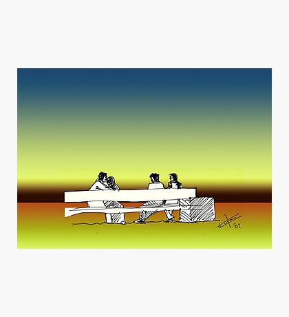 Indian Lovers Photographic Print