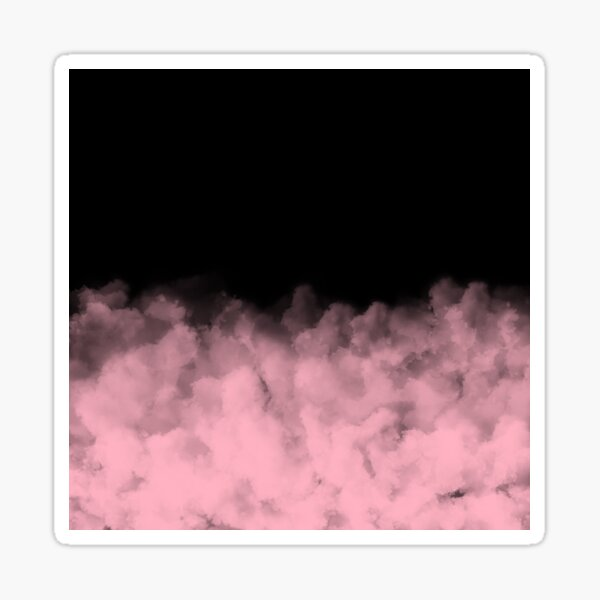 Black with Pink Minimal Sticker