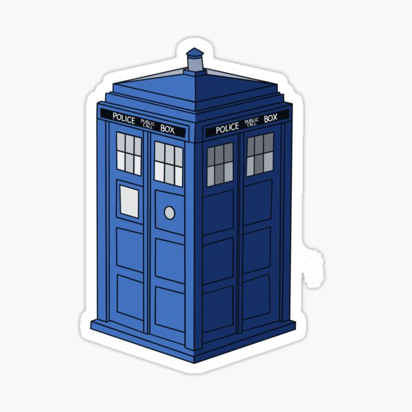 Blue Police Box: Tardis Sticker