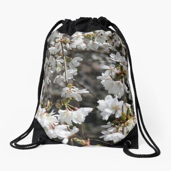 Blooming Spring Flowers Drawstring Bag