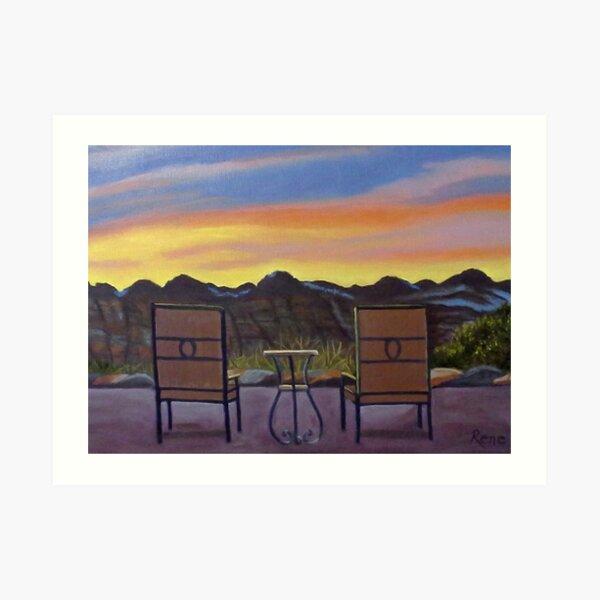 Mt. Zion Sunrise Art Print