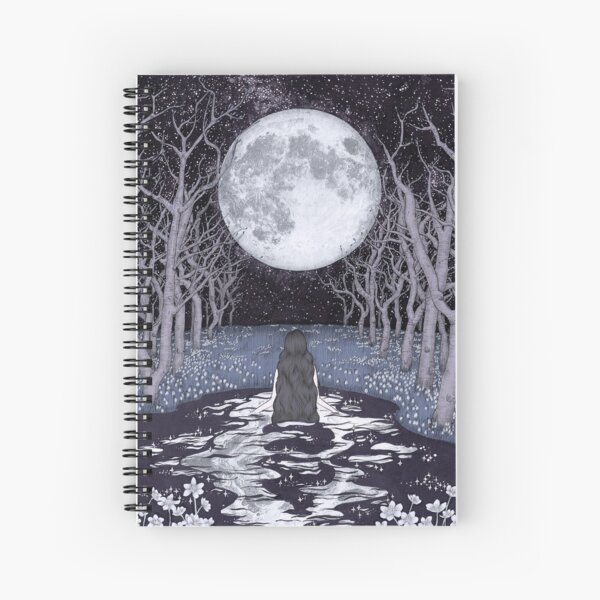 The Moonlight Bather Colour Version Spiral Notebook