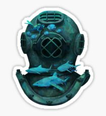 Deep diving Sticker