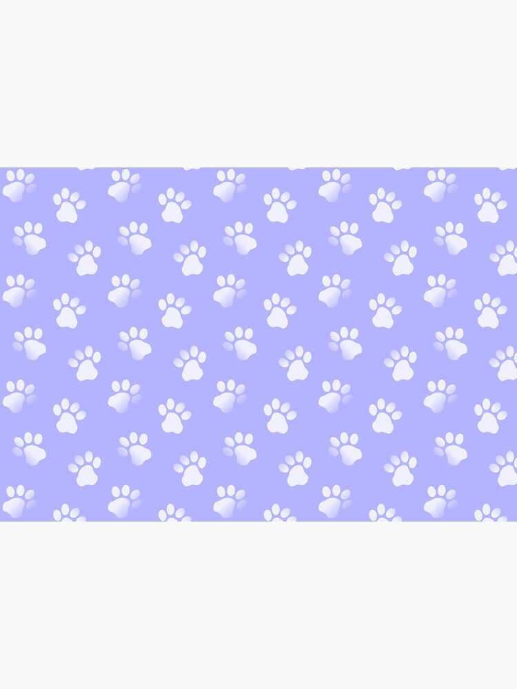 Animal Paw Prints Cats Dogs Purple and White by RootSquare