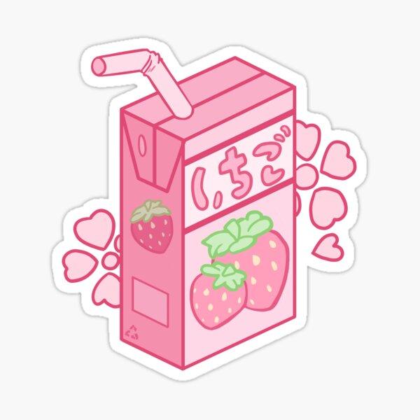 Strawberry Juice Box Sticker