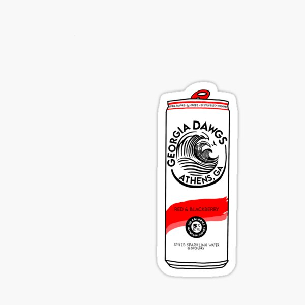UGA White Claw Sticker