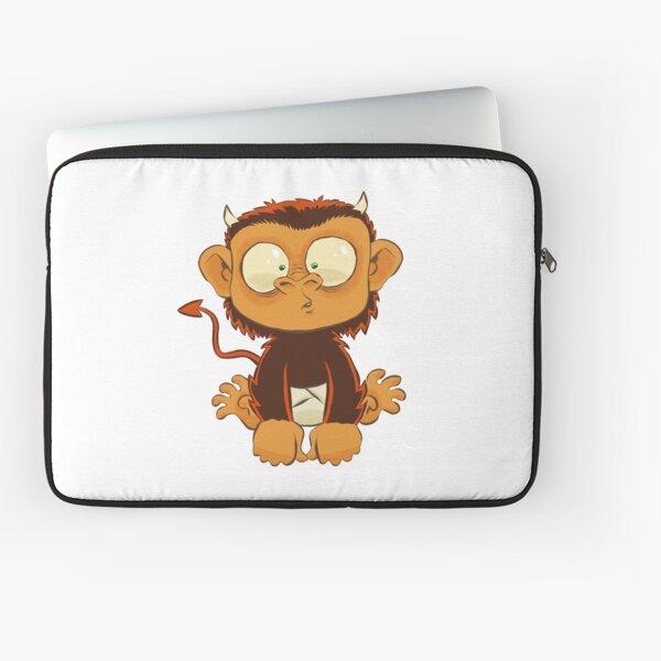 Devil Monkey Wants to be Friends Laptop Sleeve