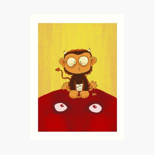Devil Monkey Wants to be Friends Art Print