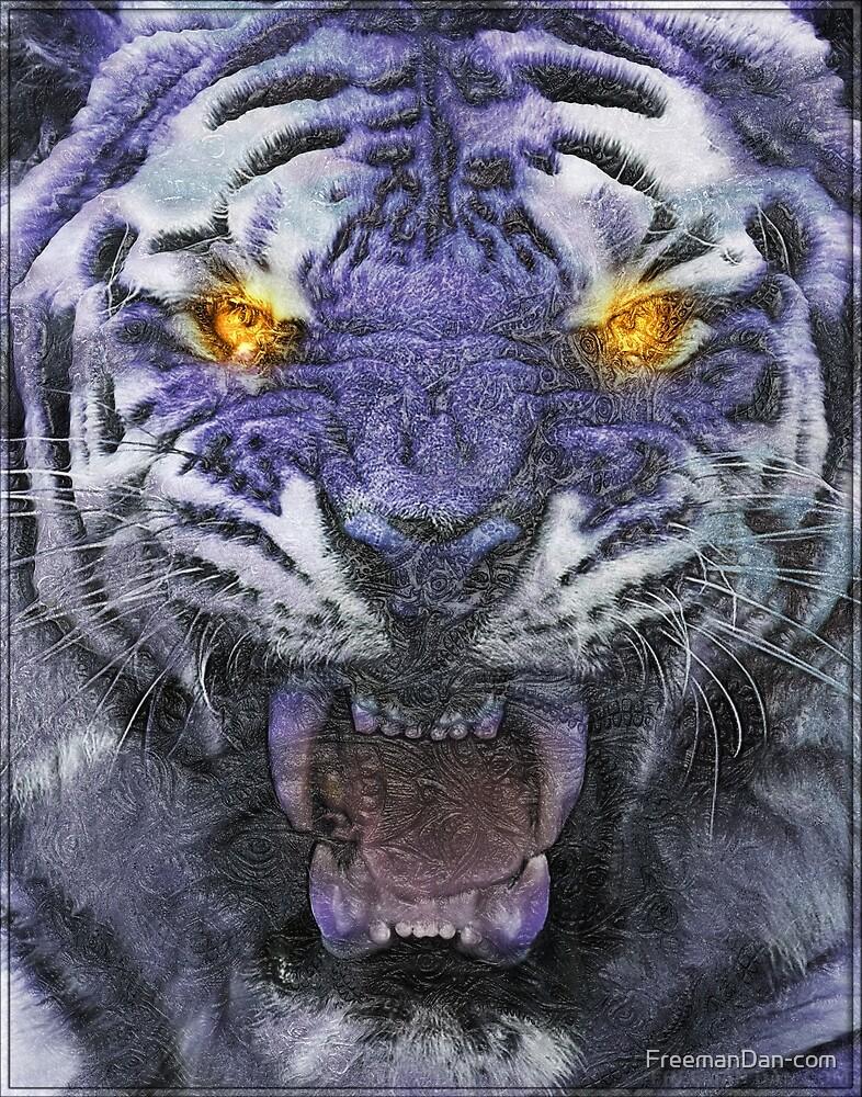 Psychedelic Tiger Poster by FreemanDan-com