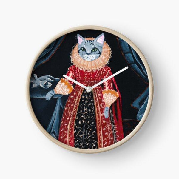 Lady Tabitha Silverly Elizabethan Cat Horloge