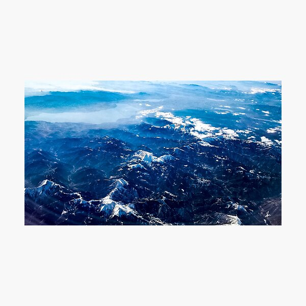 Winter mountains Photographic Print