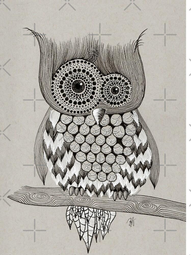 Rupert Owl by beththompsonart