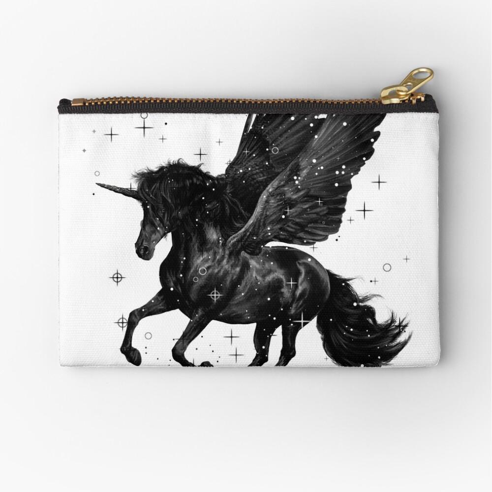 Black Unicorn Zipper Pouch