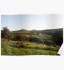 Llanfairfechan landscape. Poster