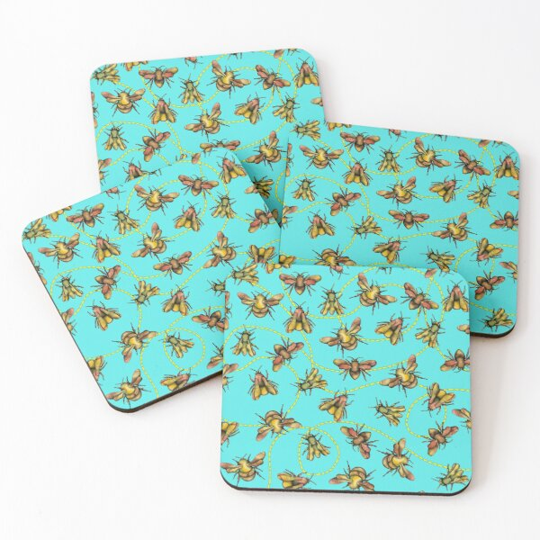 Bees! Coasters (Set of 4)