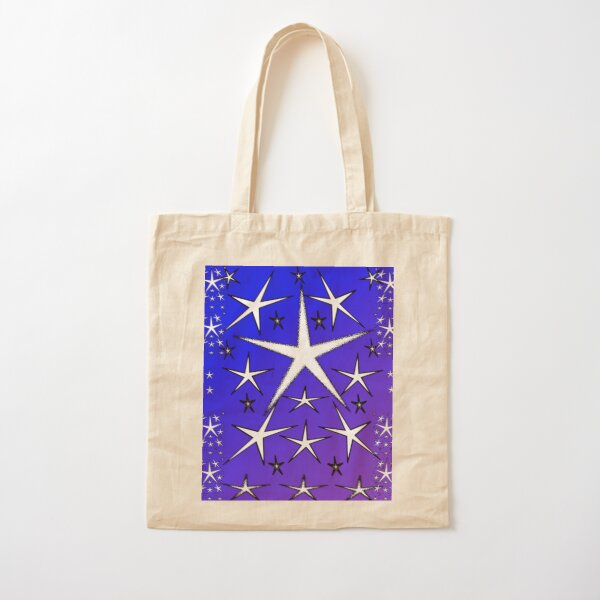 Allthesestarspurpleblue Cotton Tote Bag