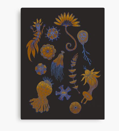 Sea Ballet in Psychedelic Colors, more apologies to Ernst Haeckel Canvas Print