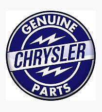 Chrysler Original Parts vintage sign. Crystal version Photographic Print