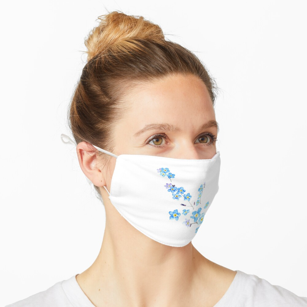blue forget me not  Mask