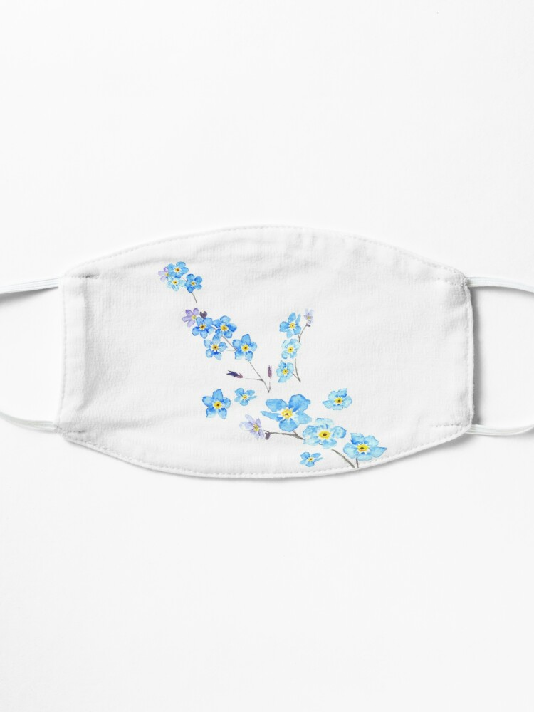 Alternate view of blue forget me not  Mask