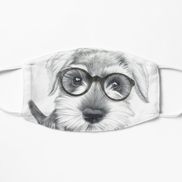 Nerdy Schnozz the Schnauzer Mask