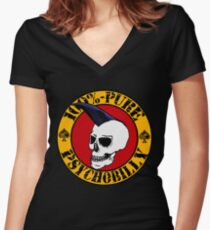 Pure Psychobilly Women's Fitted V-Neck T-Shirt