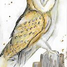 Watercolor Owl by GinaBAhrens