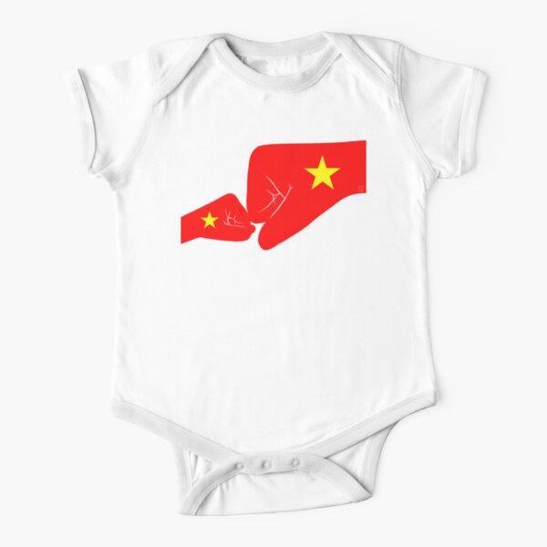 Vietnam Baby Fist Bump Patriot Flag Series  Short Sleeve Baby One-Piece