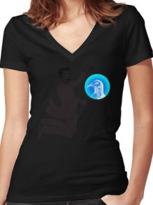 Tesla and the Pigeon Women's Fitted V-Neck T-Shirt