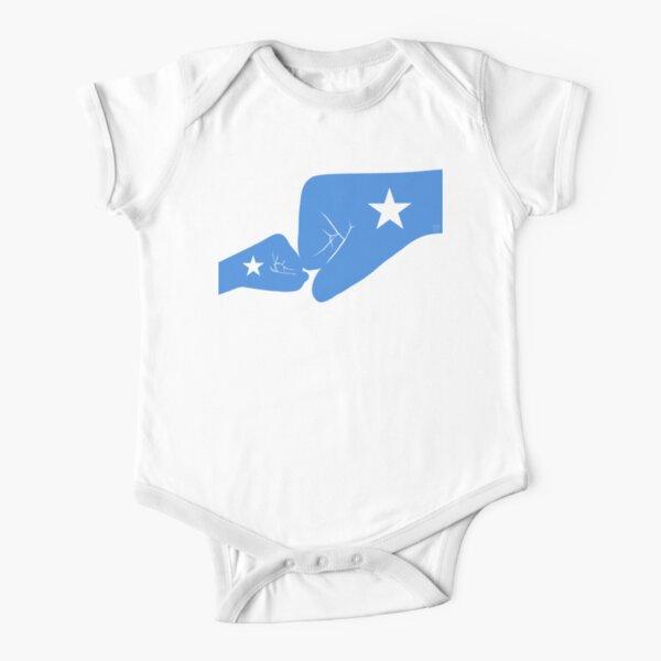 Somalia Baby Fist Bump Patriot Flag Series  Short Sleeve Baby One-Piece
