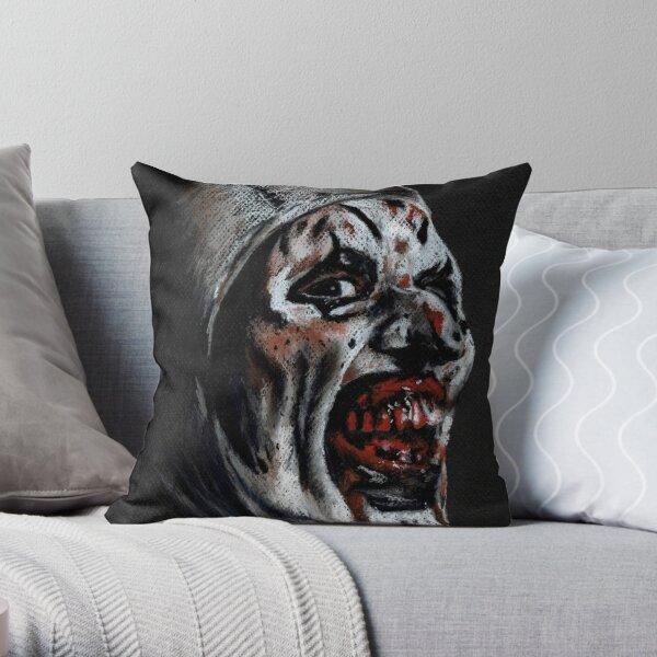 A is for Art the Clown Throw Pillow
