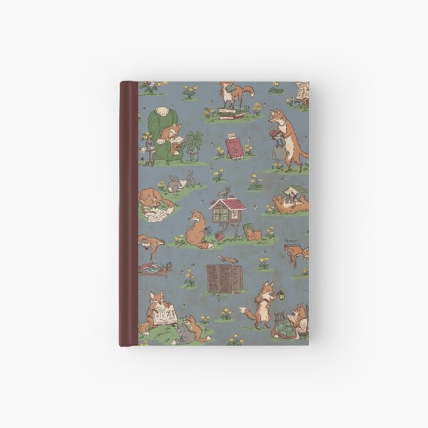 Library Foxes Hardcover Journal