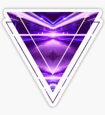 Geometric Street Night Light (HDR Photo Art) Purple Sticker