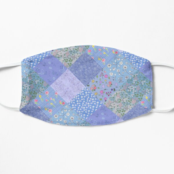 Something Blue Diamond Patchwork Quilt by Tea with Xanthe Flat Mask