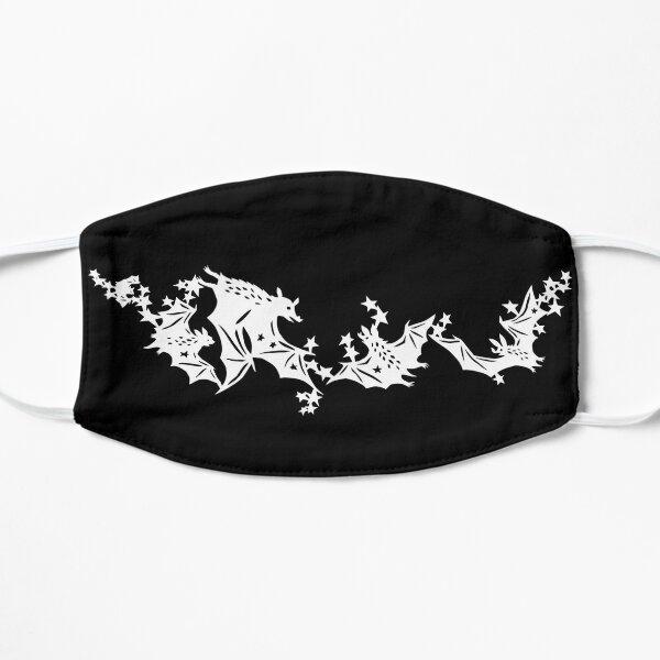 Bats and stars Flat Mask