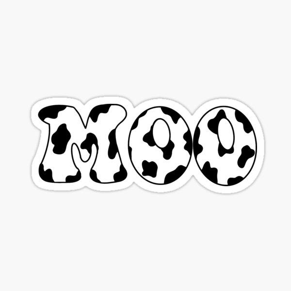 Cow print moo Sticker