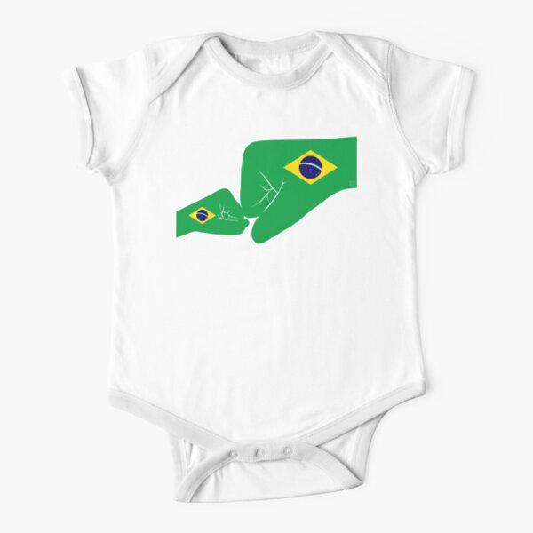 Brazil Baby Fist Bump Patriot Flag Series  Short Sleeve Baby One-Piece
