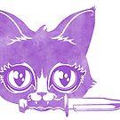 Killer Kitten -Purple Version by blacklilypie