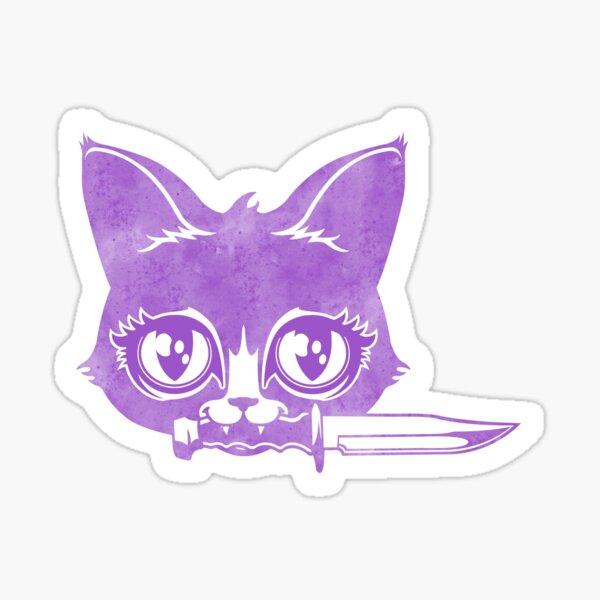 Killer Kitten -Purple Version Sticker