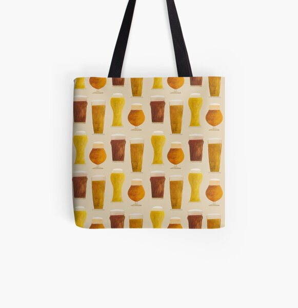 Beer Pattern All Over Print Tote Bag
