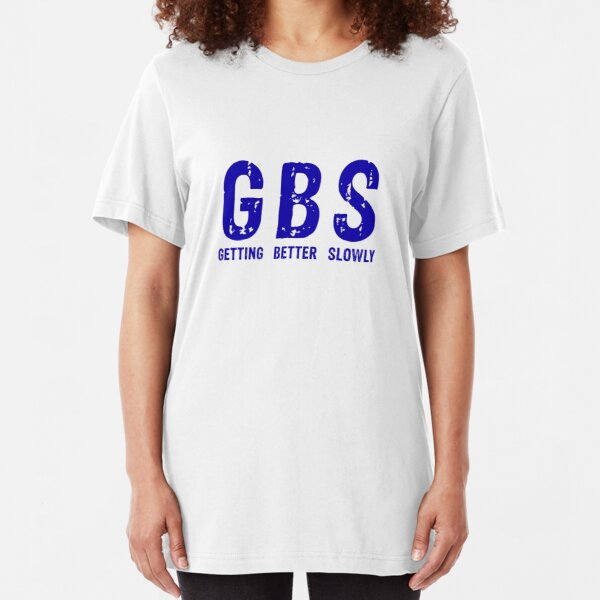 GBS T-Shirt Bright Blue Slim Fit T-Shirt